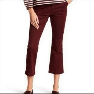 J.Crew Burgundy Sammie Cropped Chino pants size 24
